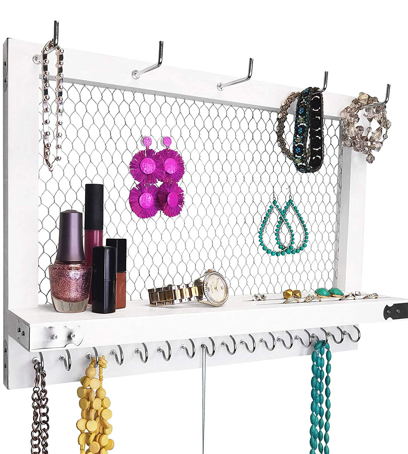 Black & Walnut Terrace Jewelry Organizer by Umbra open