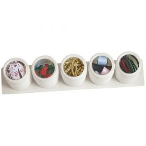 White Magnetic Plastic Spice Container