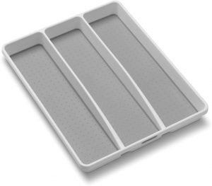White Utensil Tray