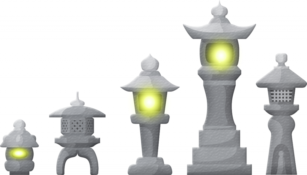 japanese lanterns for garden