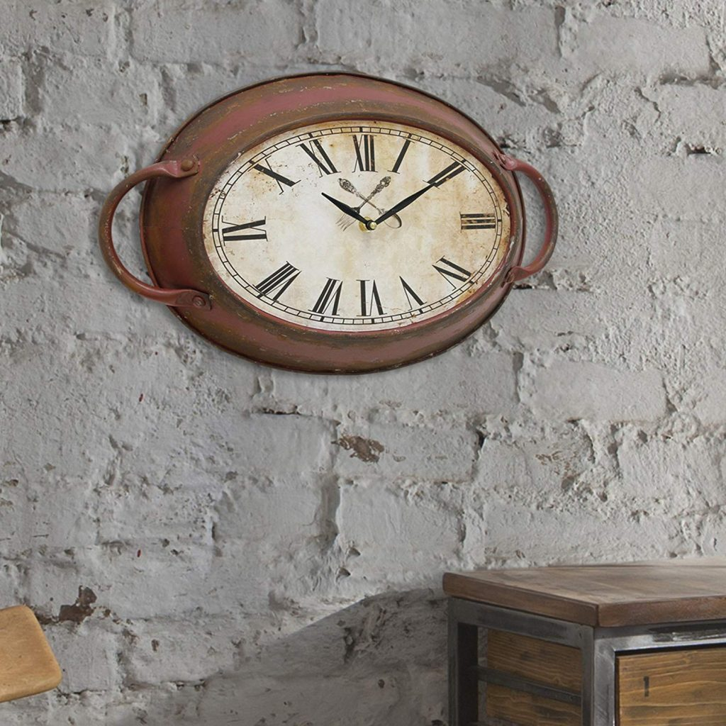 rustic metal wallclock
