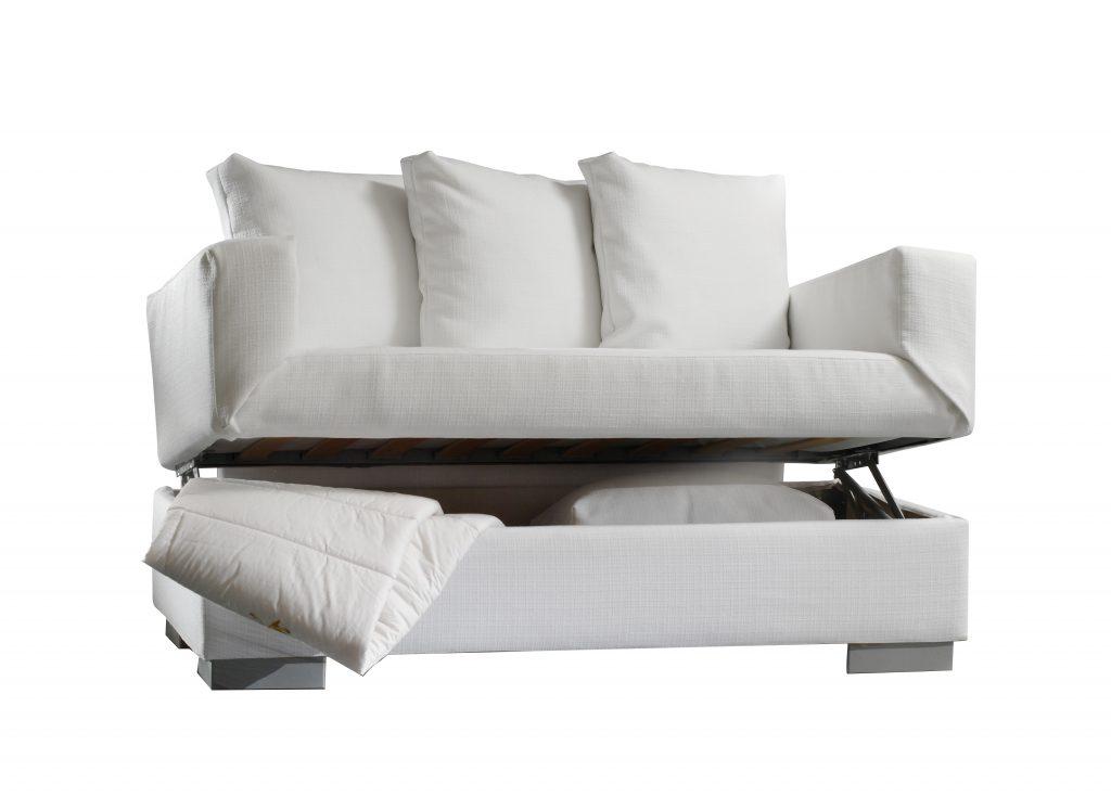 White sofa with storage