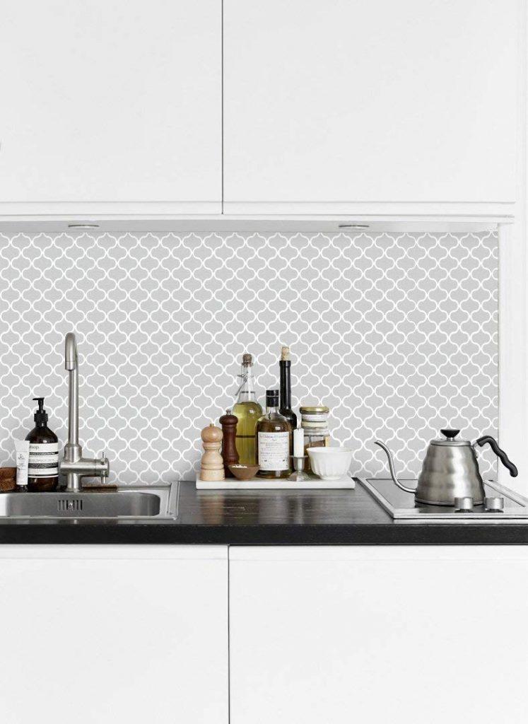 tic tac tiles wallpaper for kitchen