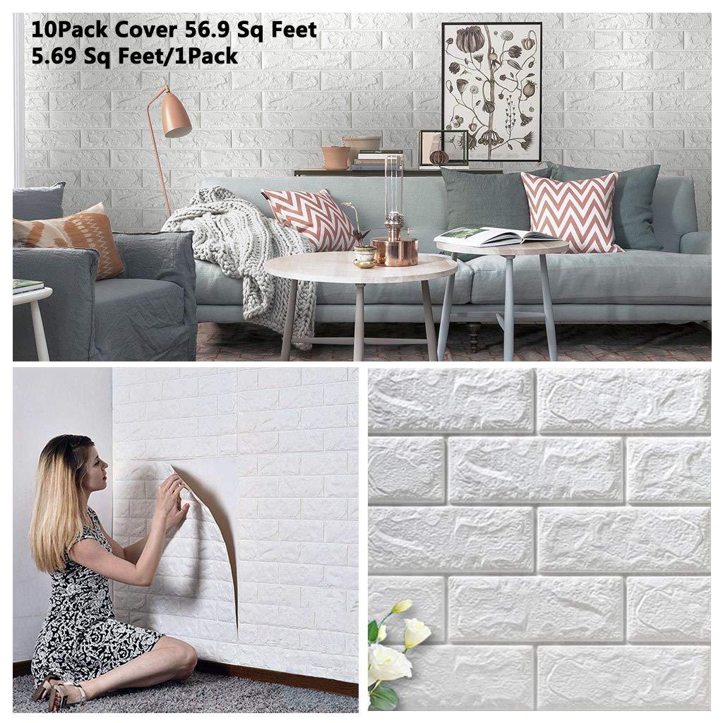 white faux tile wallpaper