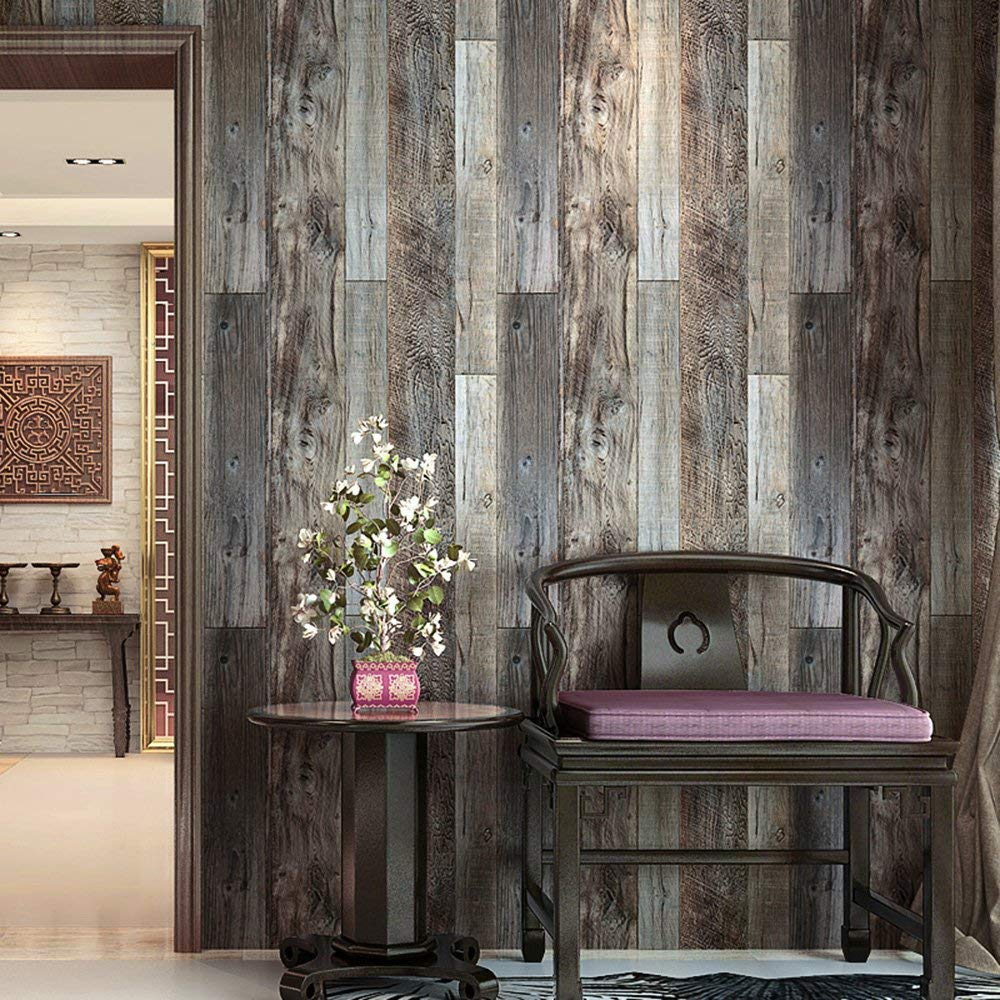 wood plan wall paper with chair