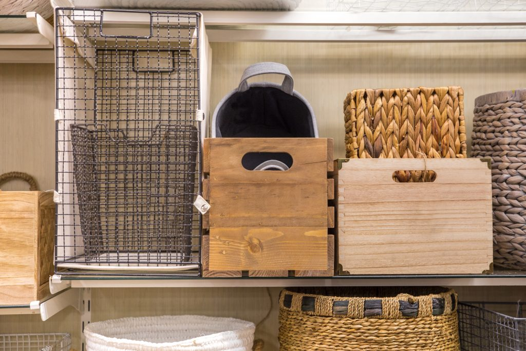 baskets with storage