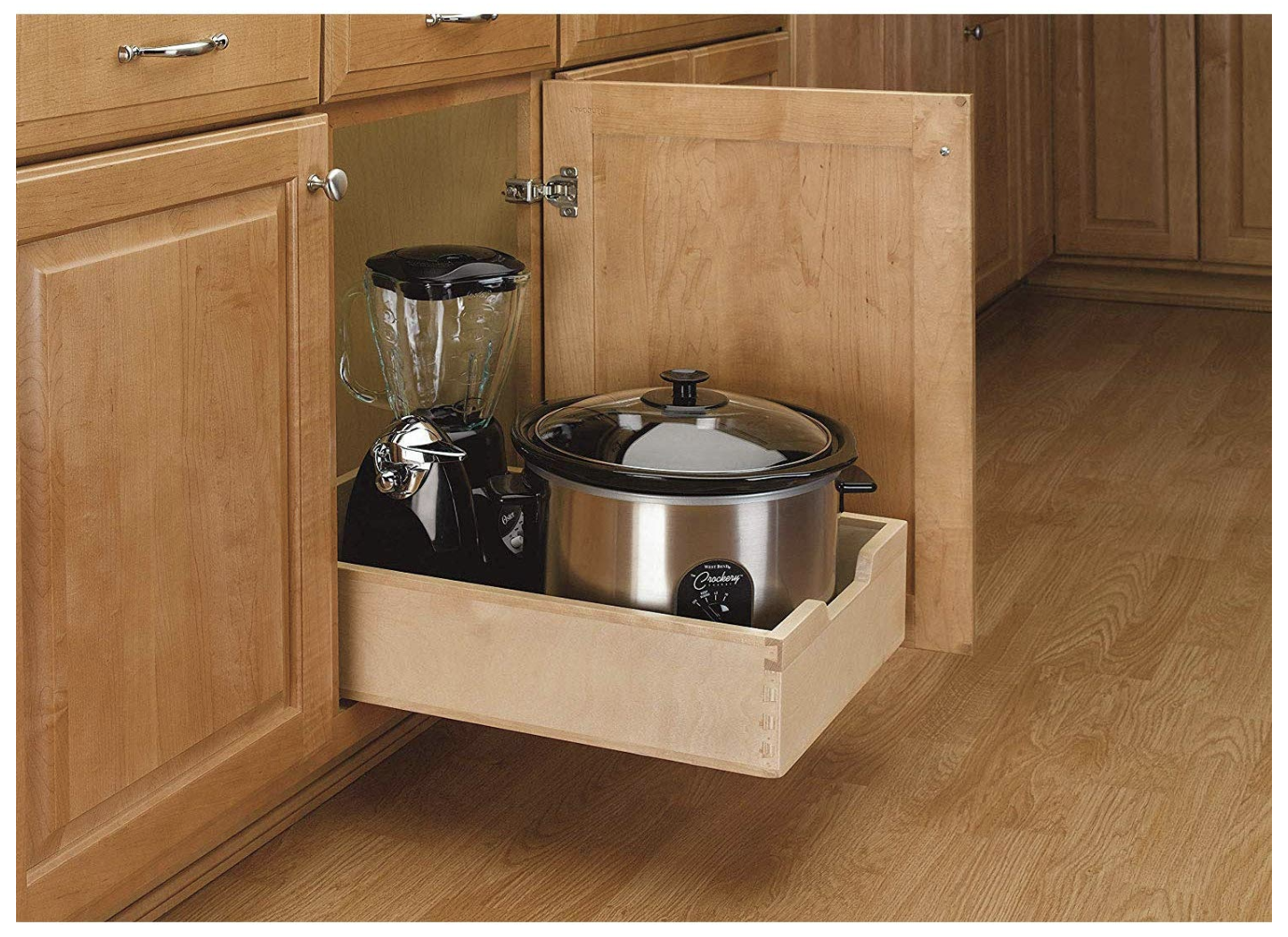 14 Inch Soft Close Wood Pull Out Organization Drawer