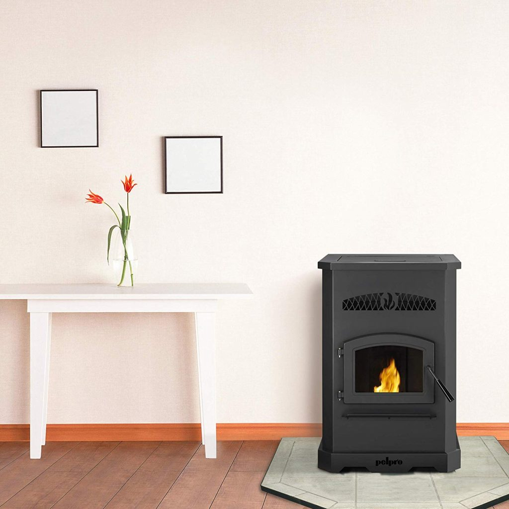 9. The PP130-B pellet stove from pelpro