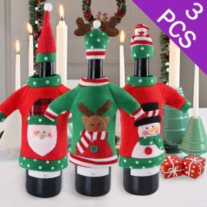Aytai Ugly Sweater Christmas Wine Bottle Cover (3pcs)