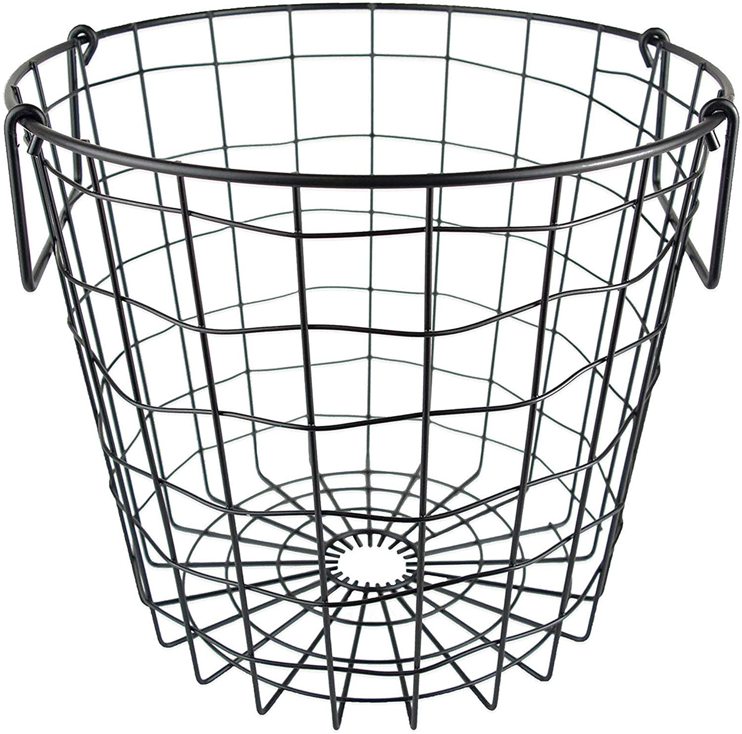 Wall Hanging Wire Baskets extra large 15.25 x 7.5 gray cabinet & wall mount basket | storables