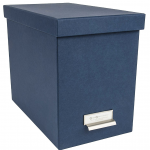 Blue Bigso John Desktop File Thin Label Frame Storage Box
