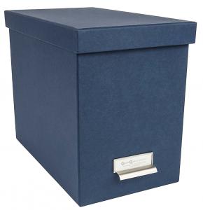 Blue Bigso John Desktop File Thin Label Frame Storage Box