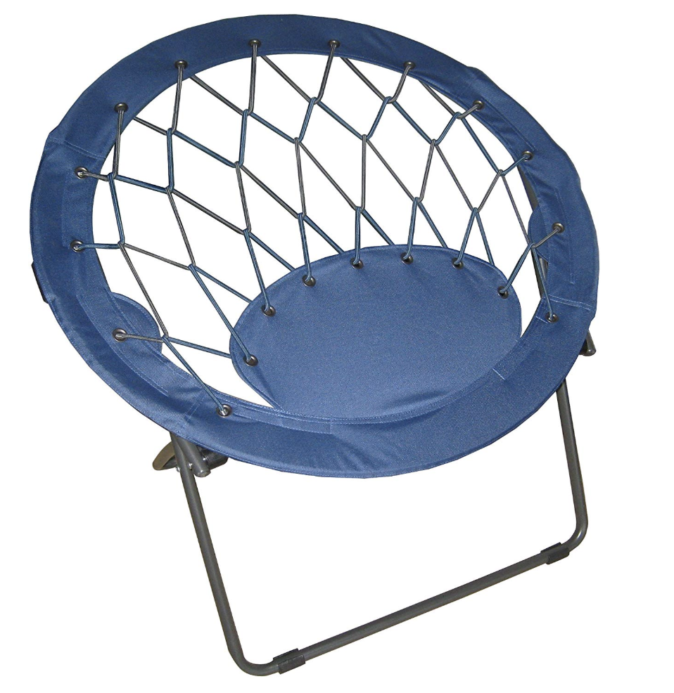 Black High-Back Bungee Chair