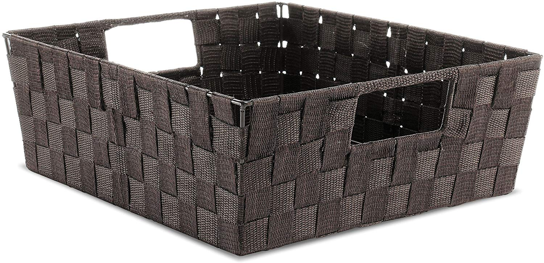 Brown Rectangular Tote Basket