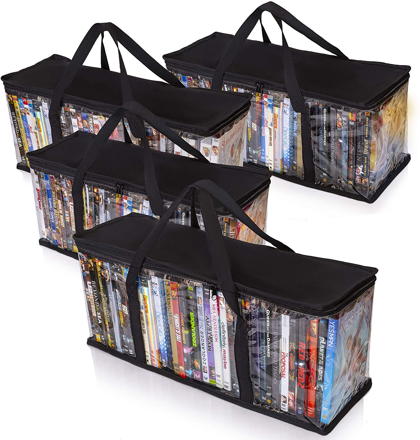 DVD Storage Tote (Set Of 4)