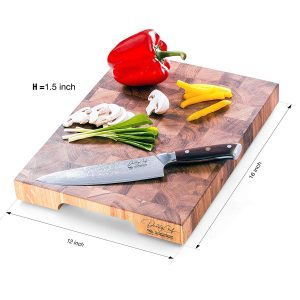 Daddy Chef End Grain Wood Kitchen Butcher Block