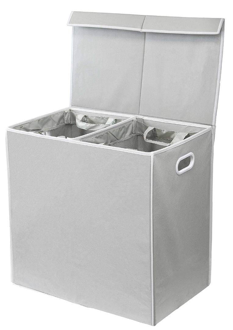 Double Laundry Hamper With Lid Storables