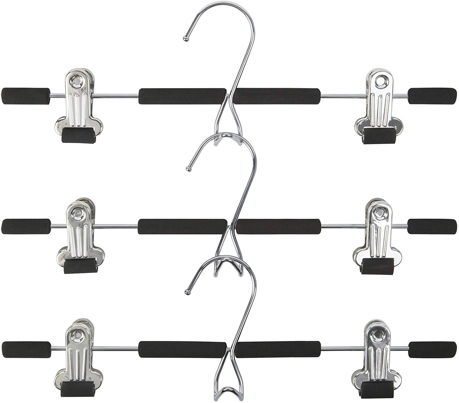 Friction Clips Trouser Hangers (Set of 3)