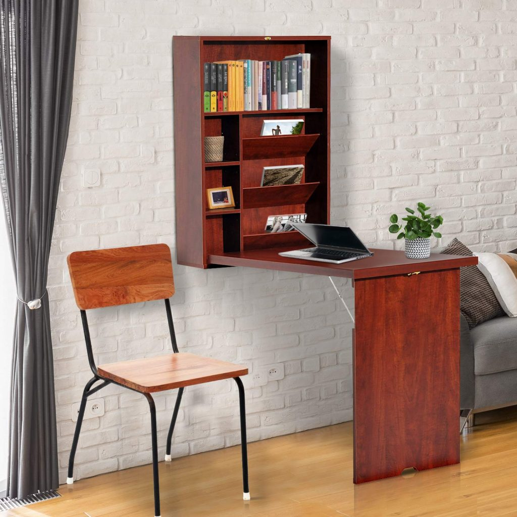 HOMCOM Compact Wall Mounted Desk