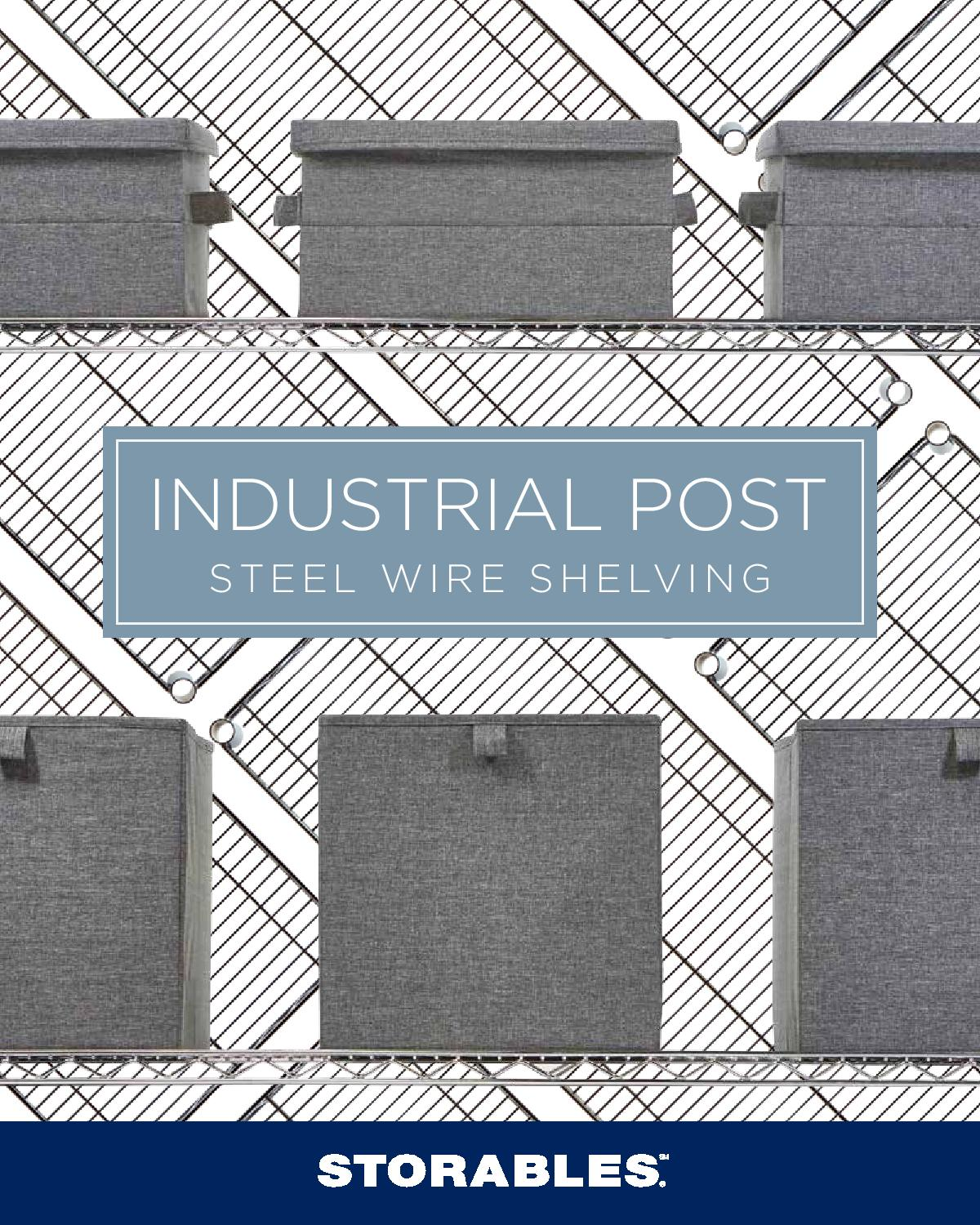 Industrial Post Steel Wire Shelving Brochure-page-001