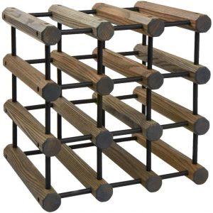 J.K. Adams Driftwood Modular Wine Rack with Black Pins (40 Bottles)