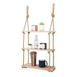 JayDee Decorative Floating Wall Shelves with Jute Rope