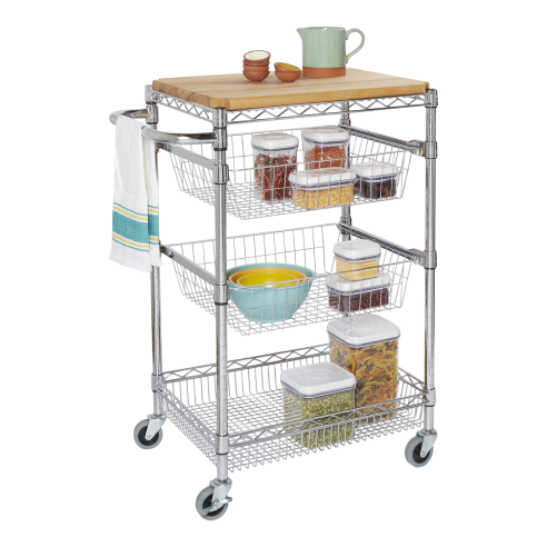 ... Rolling Kitchen Island Cart With Butcher Block ...
