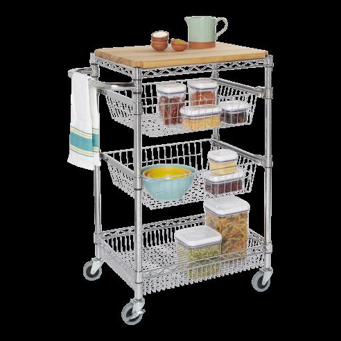 Kitchen Cart With Butcher Block Top ...