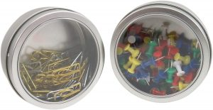 Magnetic Round Paper Clip Holder Container Case Organizer