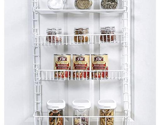 Over Door Adjustable Pantry Organizer Rack Storables