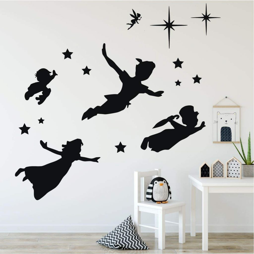 Peter Pan silhouette stickers