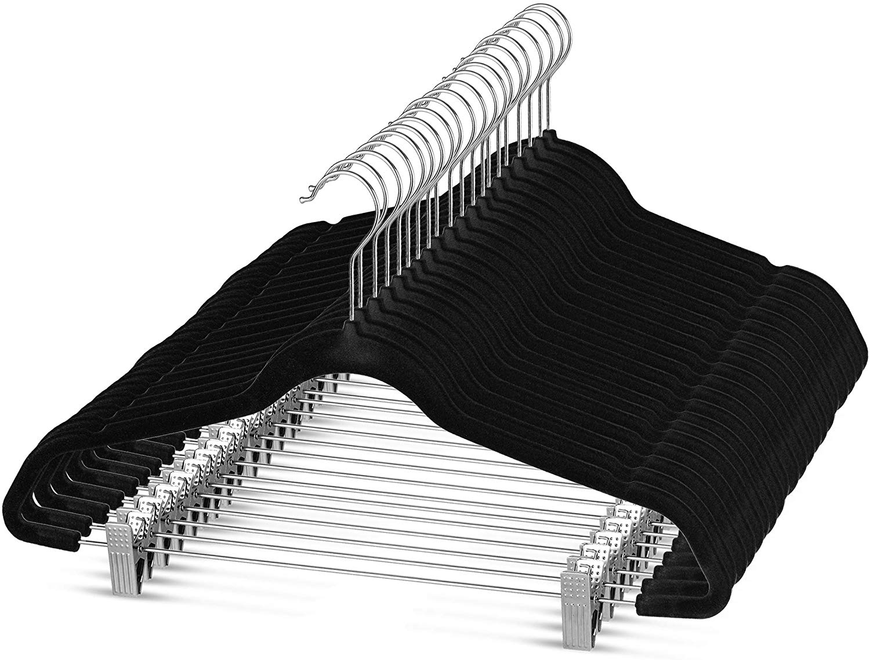 Premium Velvet Skirt Hangers (20 Pack)