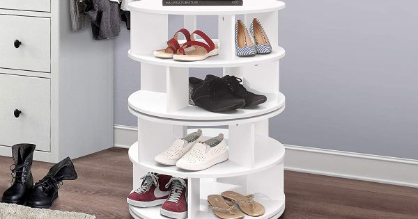 Revolving Shoe Rack Storables, Rotating Shoe Storage