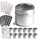 Silver Magnetic Spice Tins