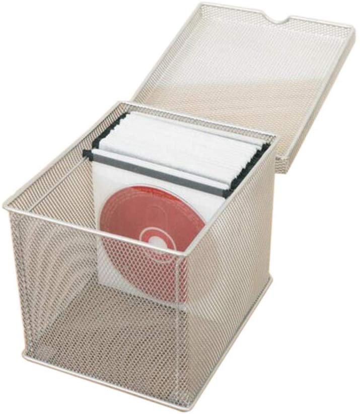 Silver/Gray Mesh CD Box