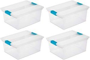 Sterilite Deep Clip Box (4-Pack)