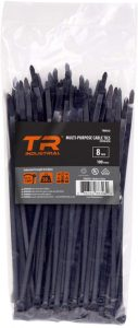 TR Industrial Multi-Purpose Cable Tie (100 Pieces), 8 inch, Black