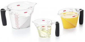 Three Piece Angled Measuring Cup Set