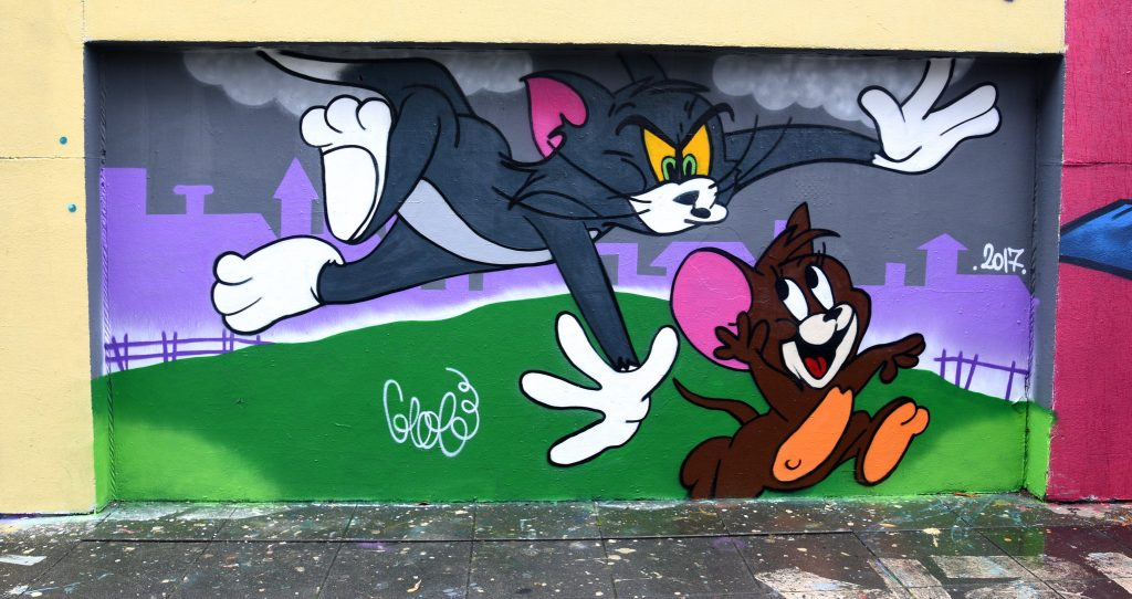 Tom & Jerry wall painting