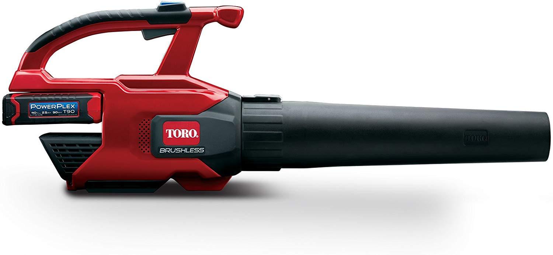 A powerful Toro cordless leaf blower