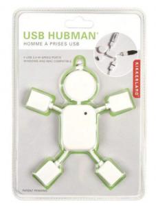White USB Hubman