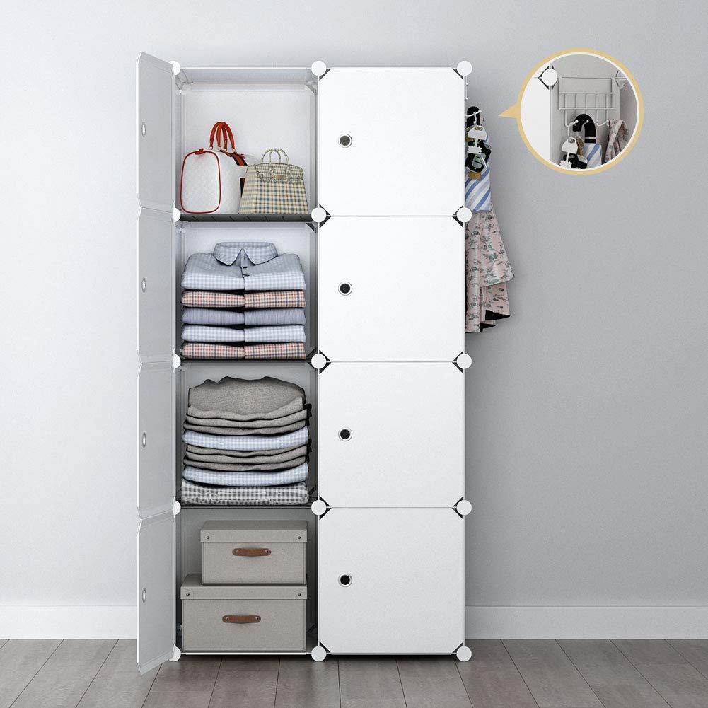 Sloped Ceiling Closet: White Ventilated Shelving