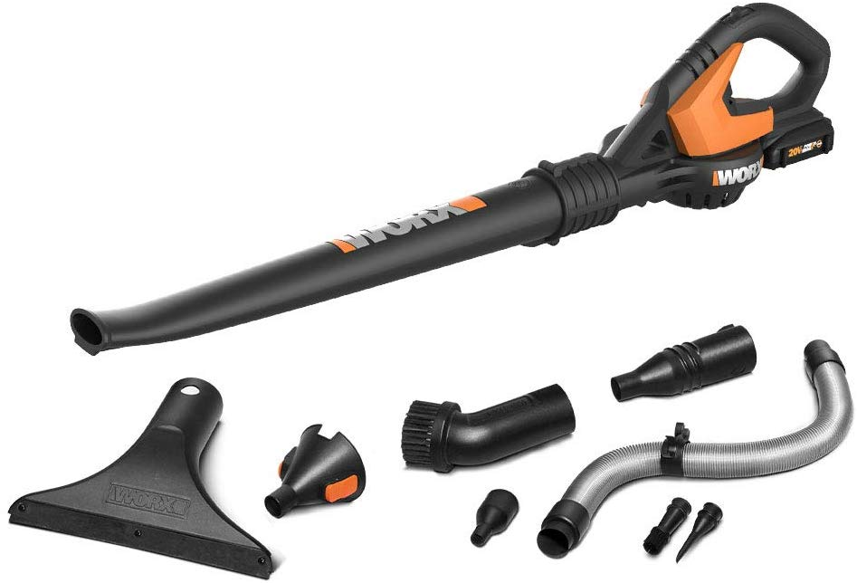 WORX gardening tool with accessories and attachments