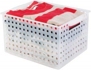 iDesign Modulon Plastic Storage Organizer Basket