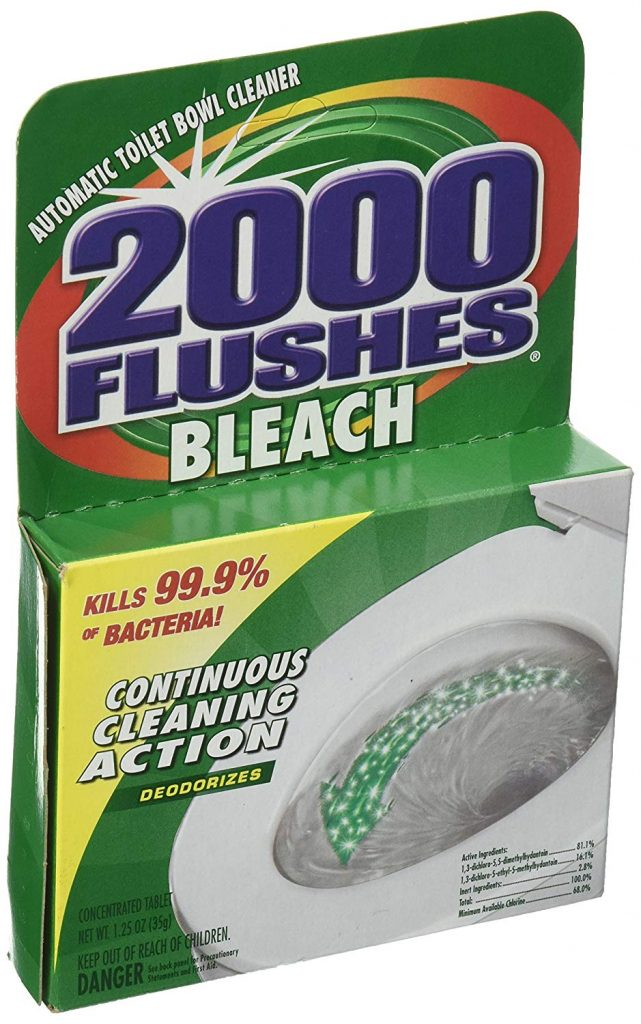 2000 Flushes Antibacterial Automatic Toilet Bowl Cleaner