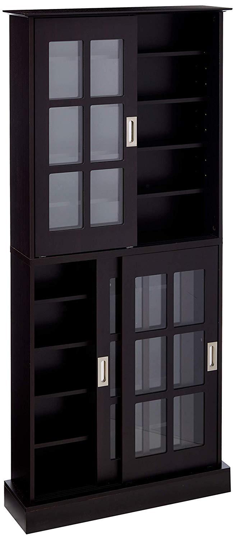 Atlantic Windowpane Multimedia-Storage Cabinet