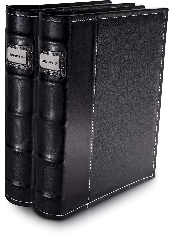 Bellagio-Italia Black DVD Storage Binder