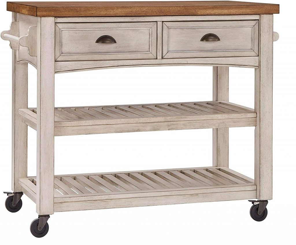 Eleanor Two Tone Rolling Kitchen Island
