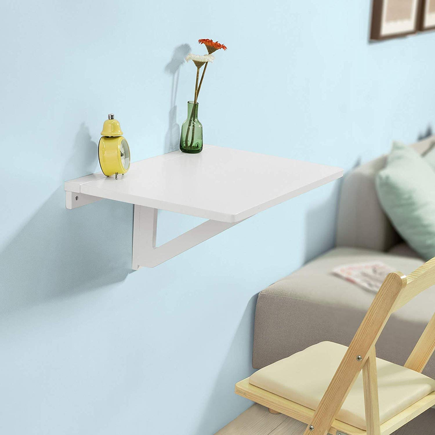 Haotian Wall-Mounted Drop-Leaf Table