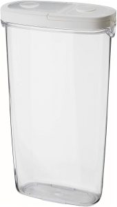 Clear Dry Food Jar with White Lid